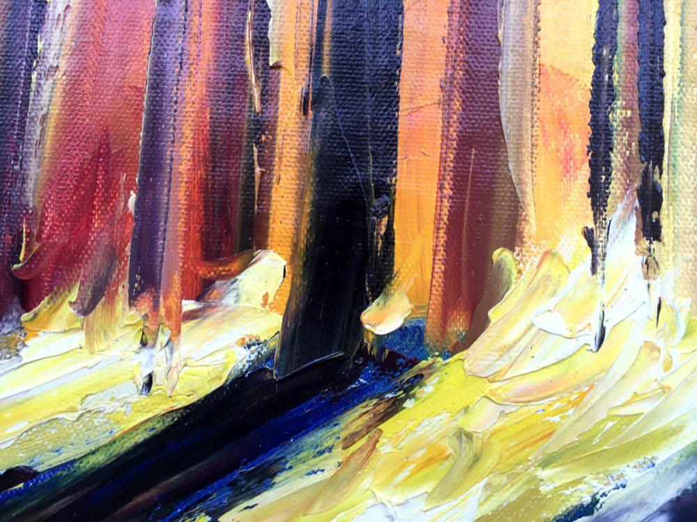 palet schilderij kleurrijk bos close-up