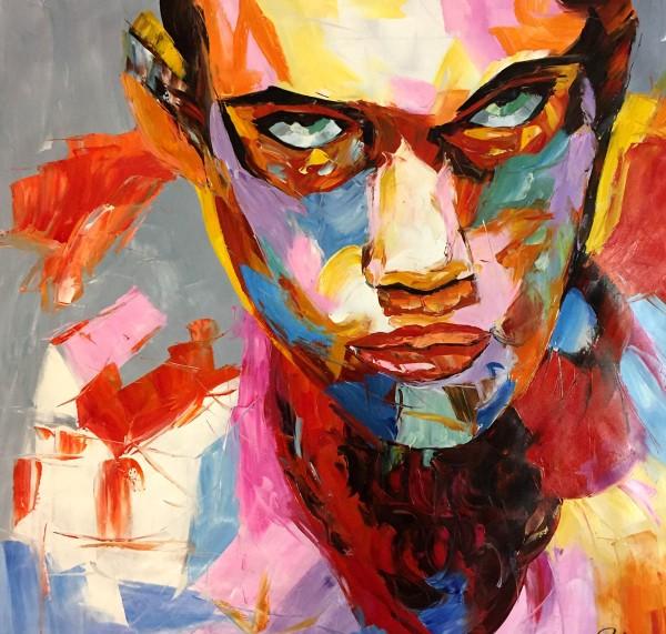 Kleurrijke man