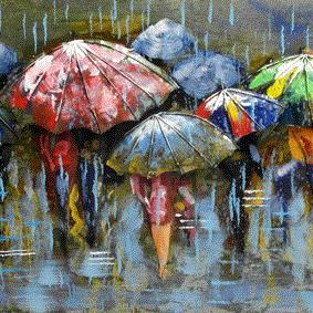 Allemaal paraplu's