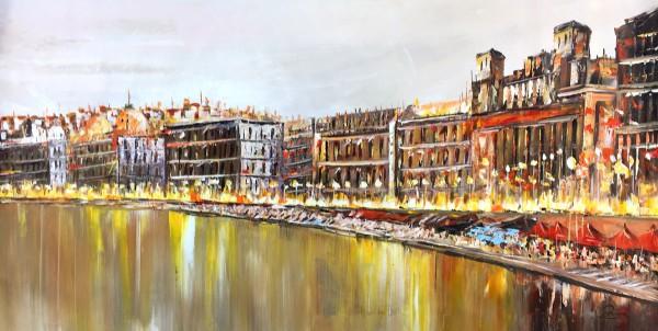 """Schilderij """"Drukke boulevard"""""""