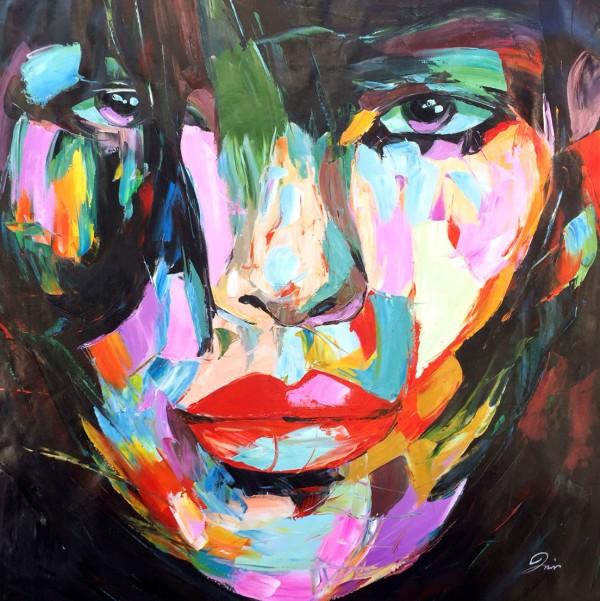 """Schilderij """"Kleurrijke vrouw"""""""