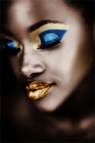 Black girl with make-up