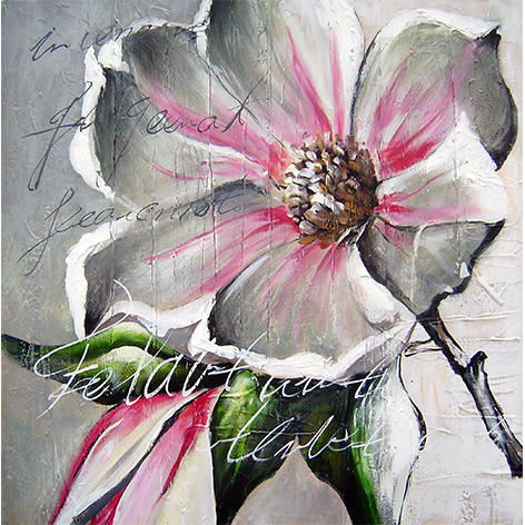 "Aluminium schilderij ""Freddie Segers – Witte bloem"" van Mondiart"