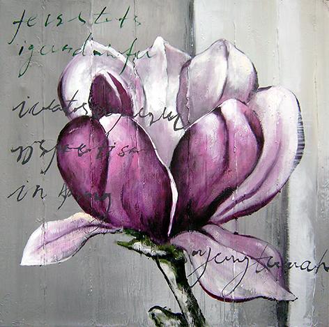 """Aluminium schilderij """"Freddie Segers – Magnolia bloem"""" van Mondiart"""