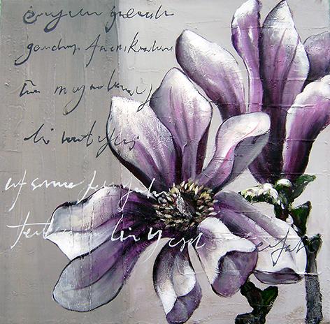 "Aluminium schilderij ""Freddie Segers – Open magnolia"" van Mondiart"
