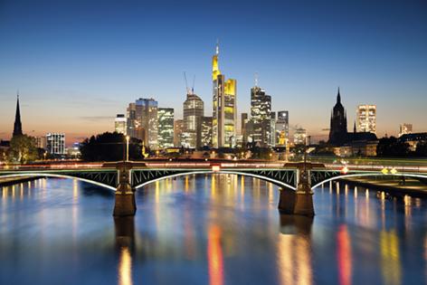 "Aluminium schilderij ""Frankfurt"" van Mondiart"