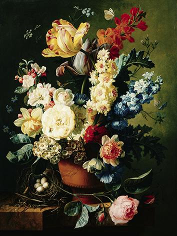"""Aluminium schilderij """"Bloemen in vaas"""" van Mondiart"""