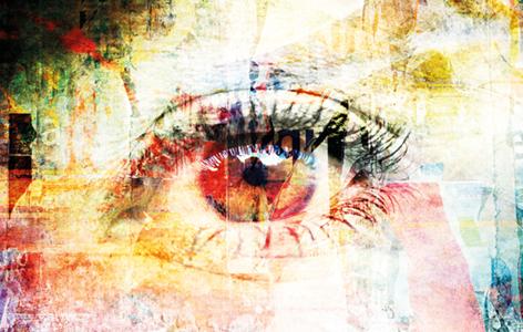 """Aluminium schilderij """"Bas – Eye"""" van Mondiart"""