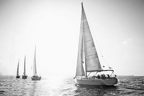 "Aluminium schilderij ""Sailing ship"" van Mondiart"