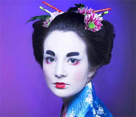 """Aluminium schilderij """"Chinese girl"""" van Mondiart"""