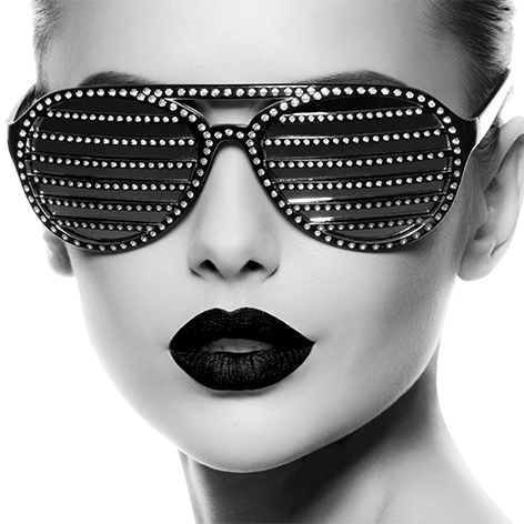 Bling bling sunglasses black/white