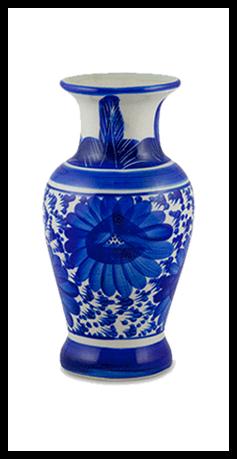 "Aluminium schilderij ""Chinese porcelain vase 2"" van Mondiart"