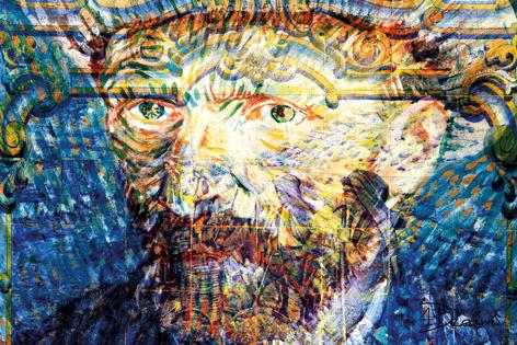 "Aluminium schilderij ""Bas – Van Gogh"" van Mondiart"