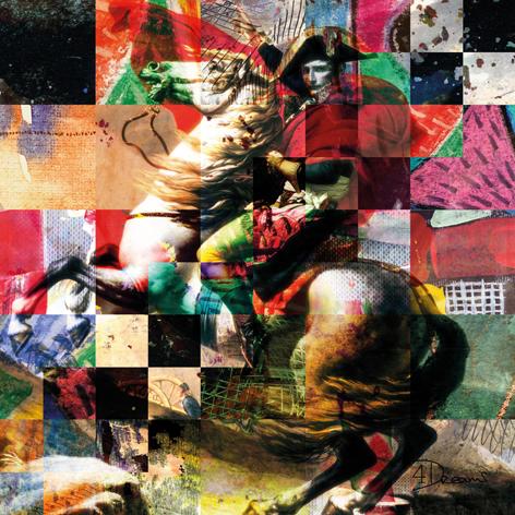 "Aluminium schilderij ""Bas – Napoleon 2.0"" van Mondiart"