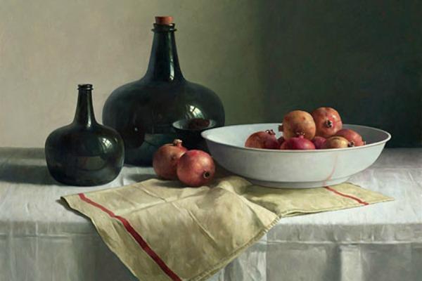Kunst in de keuken - Stilleven granaatappels