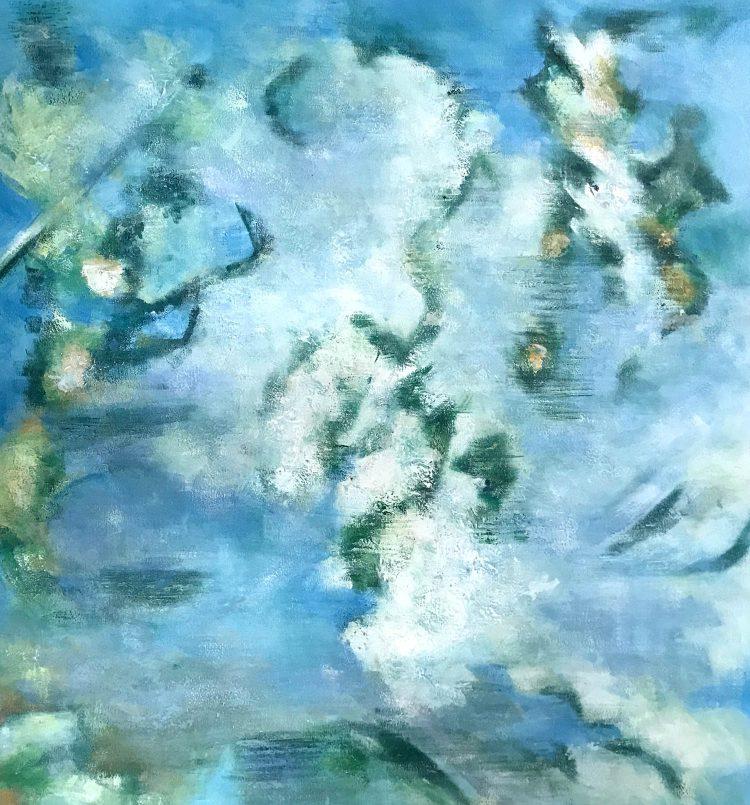 """Schilderij """"Wolkenbloesem"""""""