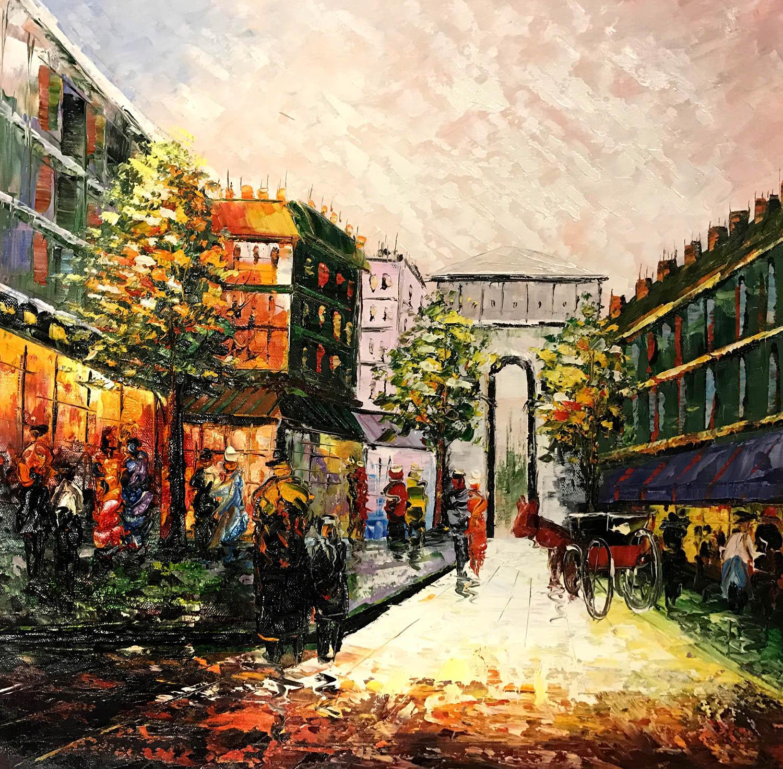 palet schilderij classic city