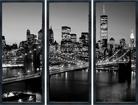 drieluik brooklyn bridge new york met lijst 1270555