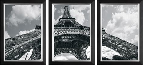 """Ingelijste poster """"Drieluik Eiffeltoren"""" van Mondiart"""