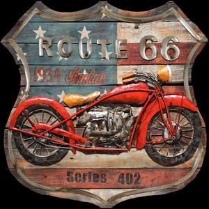 Oranje motor route66