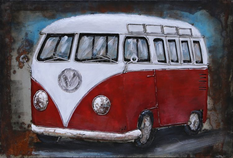 Rood Volkswagen Busje