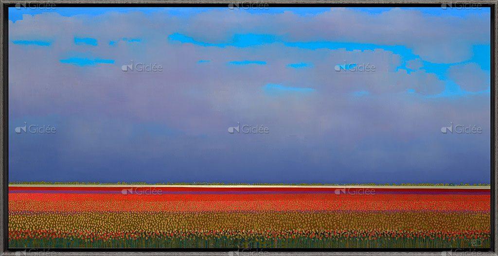 schilderij Red tulipfields Ton Dubbeldam 141553