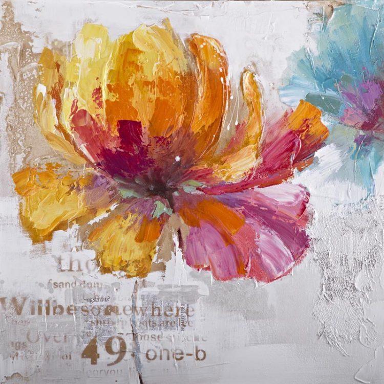 Oranjepaarse bloem