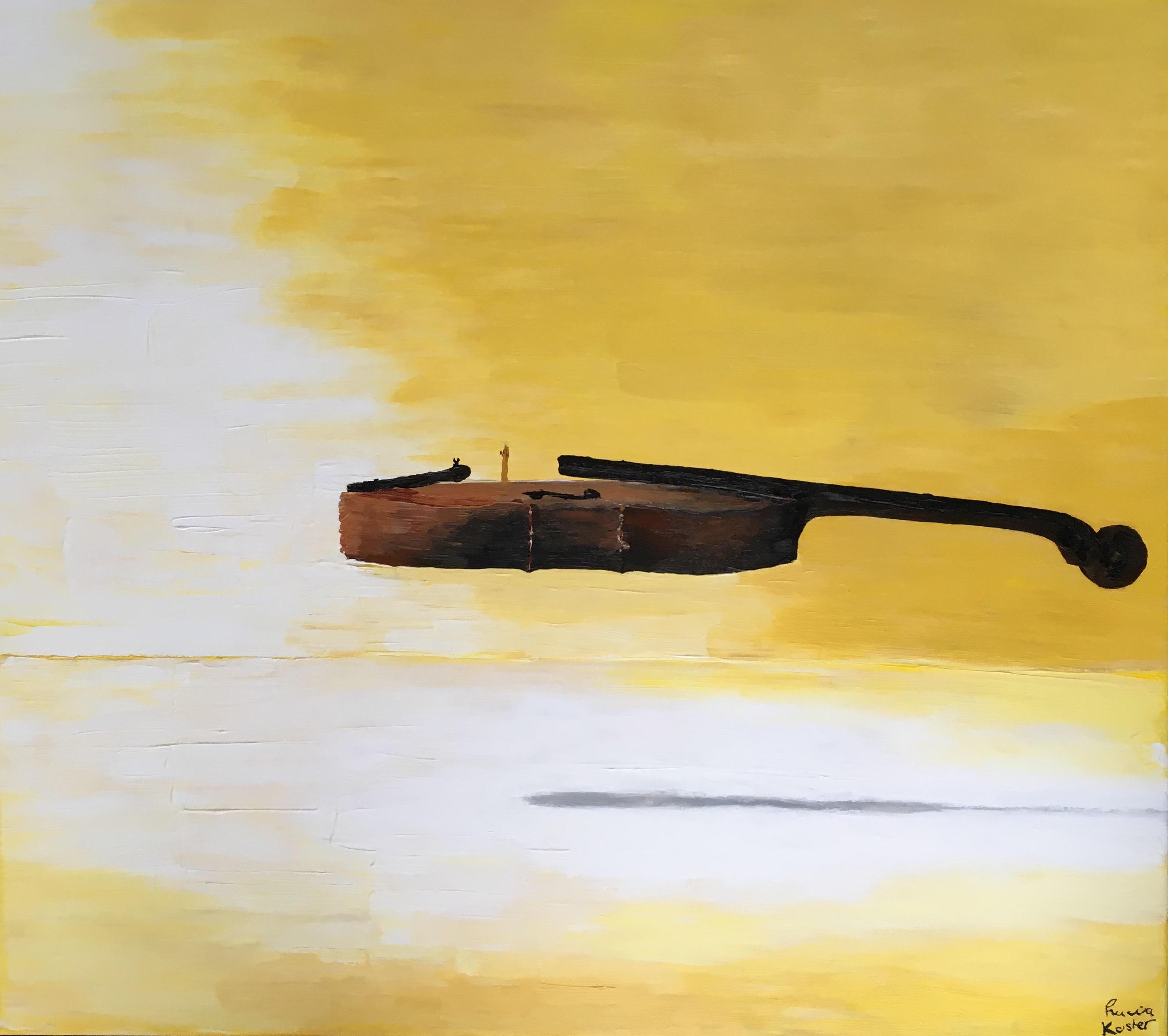 schilderij de viool - lucia koster