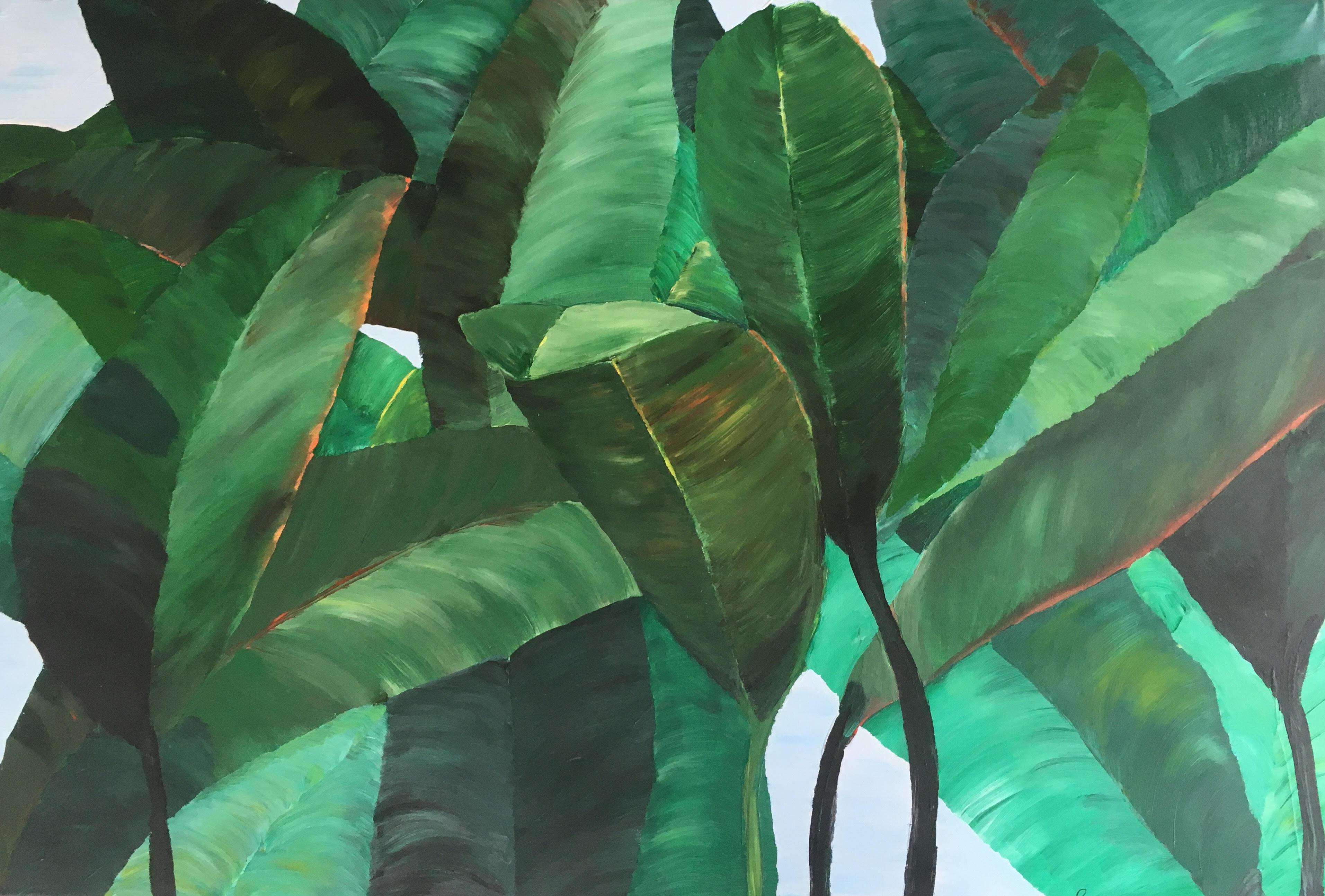 schilderije Bladerdak - lucia koster - 75x115