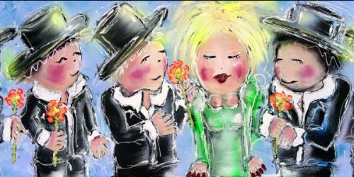 Dikke Dames schilderijen in een nieuw jasje