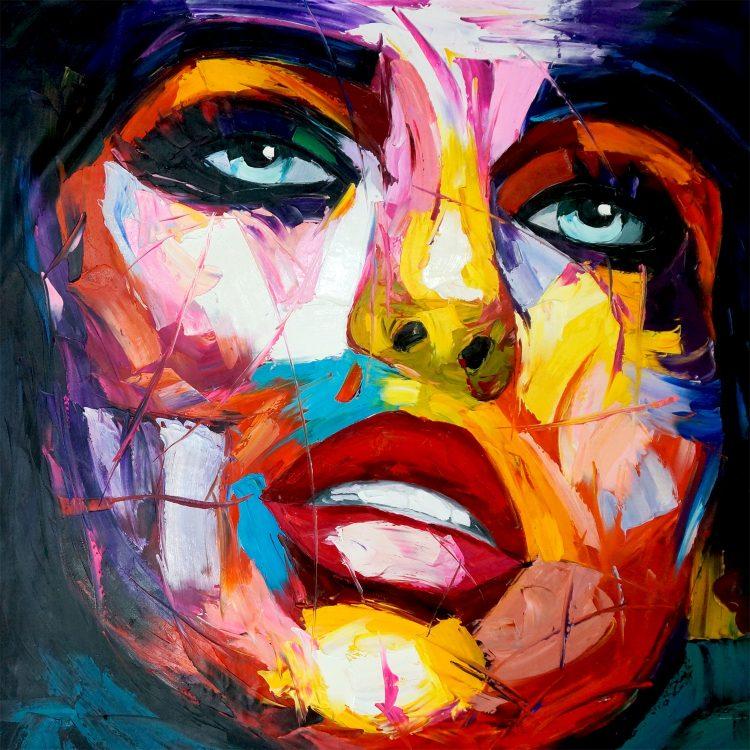 """Schilderij """"Kleurrijk vrouwengezicht"""""""