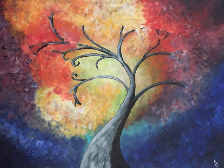 """Schilderij """"Kleurenboom"""""""