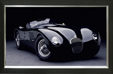 Zwarte Jaguar C-type (groot)