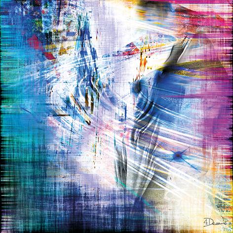 """Aluminium schilderij """"Bas – Contour"""" van Mondiart"""