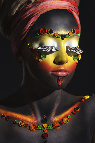 Colorful African woman