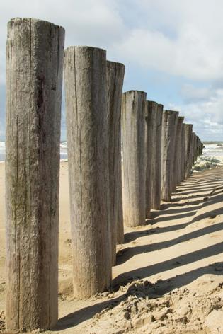 """Aluminium schilderij """"Beach pole"""" van Mondiart"""