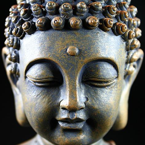 "Aluminium schilderij ""Buddha portret"" van Mondiart"