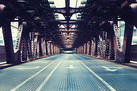 "Aluminium schilderij ""Bridge"" van Mondiart"