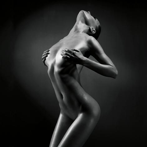 Elegant naked lady Vrouw Naakt