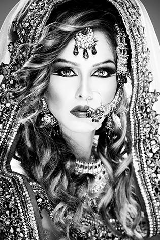 "Aluminium schilderij ""Indian bride"" van Mondiart"