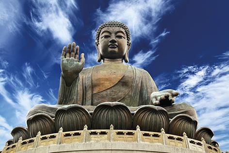 "Aluminium schilderij ""Giant Buddha"" van Mondiart"