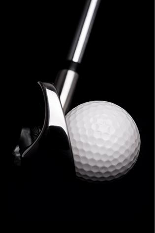 "Aluminium schilderij ""A golf ball"" van Mondiart"
