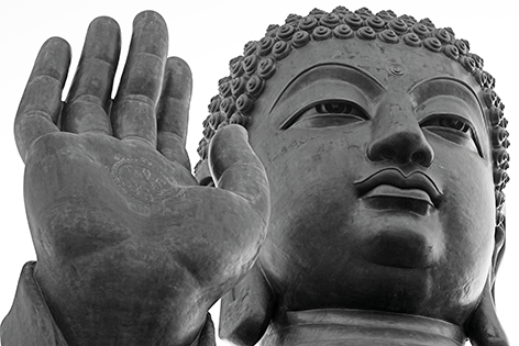 "Aluminium schilderij ""Hong Kong Buddha"" van Mondiart"