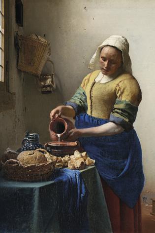 Melkmeisje Johannes Vermeer Stilleven Klederdracht