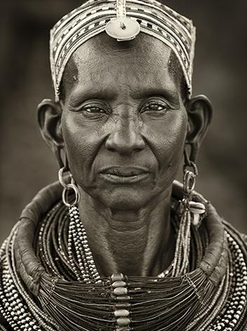 """Aluminium schilderij """"Ngurunit Samburu woman"""" van Mondiart"""
