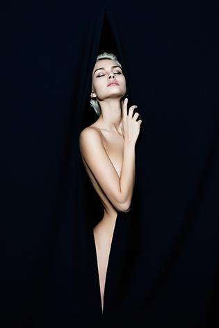 Nude beautiful young woman