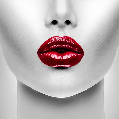 """Aluminium schilderij """"Red lips"""" van Mondiart"""