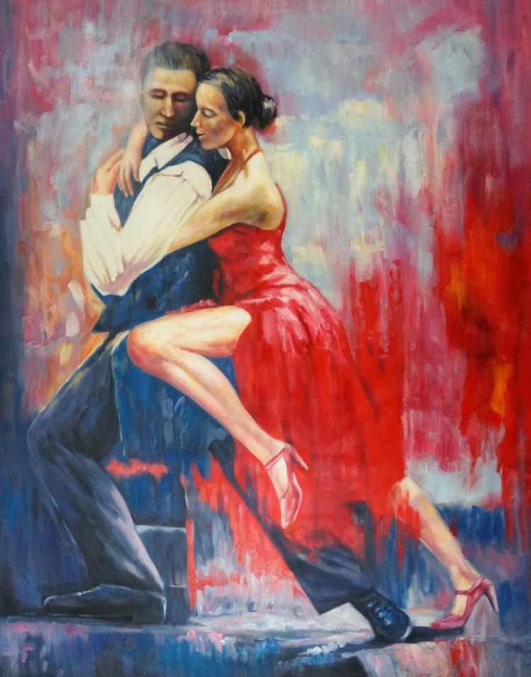 """Schilderij """"Flamencodansers"""""""