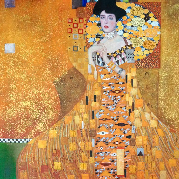 """Schilderij """"Gustav Klimt – De jurk"""""""