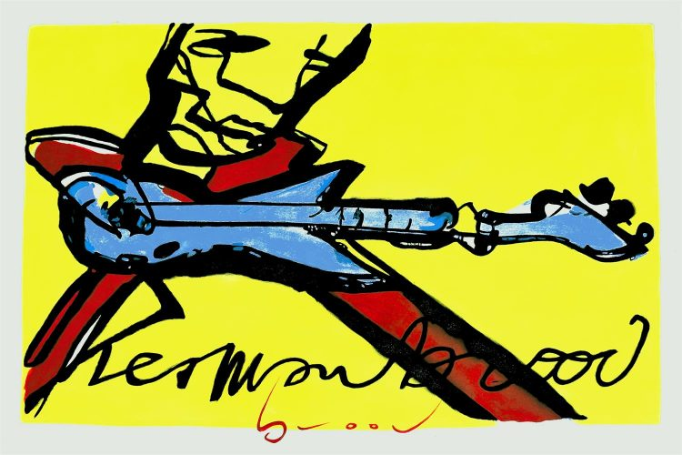 "Schilderij ""Herman Brood – Guitarman"""